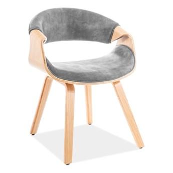 Krzesło DAKOTA VELVET szare SIGNAL