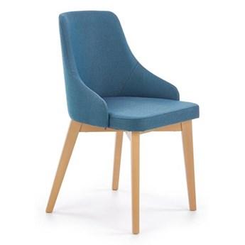 Krzesło TOLEDO niebieskie/dąb miodowy HALMAR