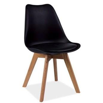 Krzesło KRIS czarne/dąb SIGNAL