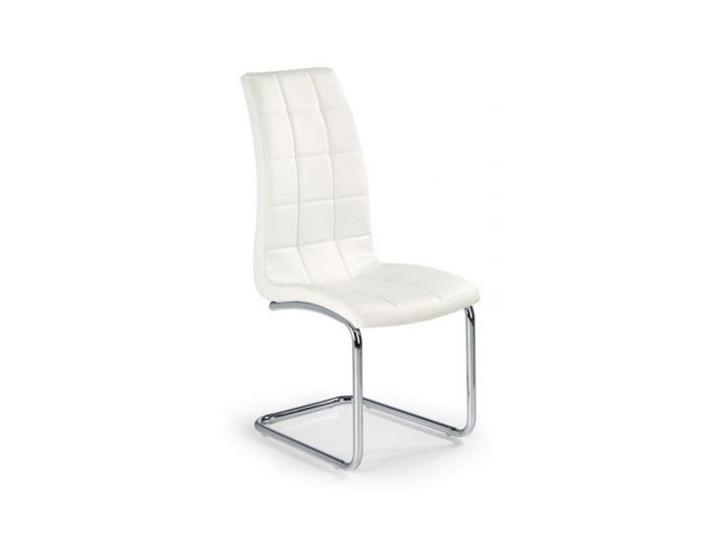 Krzesło K147 białe HALMAR Metal Tapicerowane Tkanina Stal Styl Nowoczesny Tworzywo sztuczne Kolor Biały