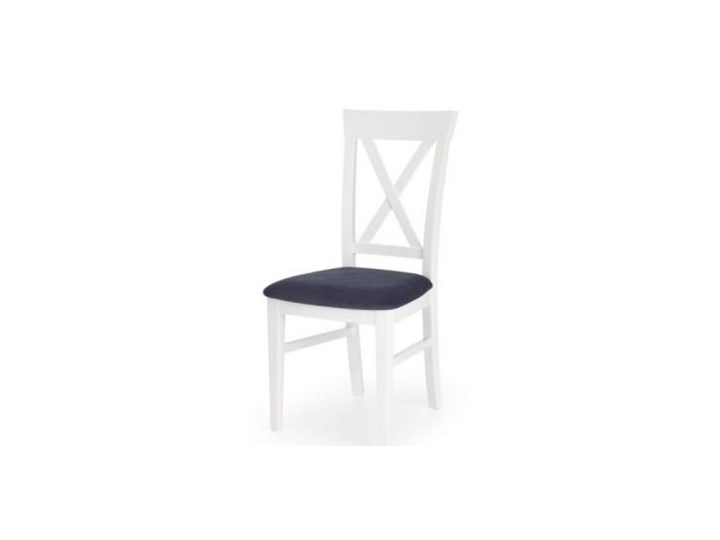 Krzesło BERGAMO białe HALMAR Tapicerowane Tkanina Drewno Kolor Biały