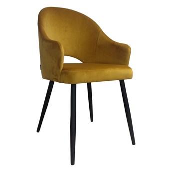 Krzesło JENISEJ VELVET żółte ATOS