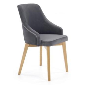 Krzesło TOLEDO 2 grafitowe/dąb miodowy HALMAR