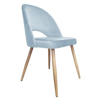 Krzesło ISKAR 2 BL VELVET szare/dąb ATOS