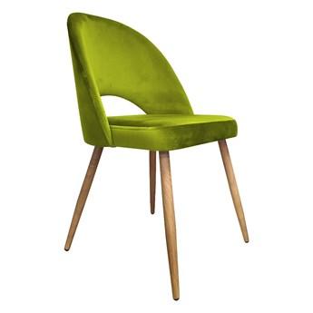 Krzesło ISKAR 2 BL VELVET oliwkowe/dąb ATOS