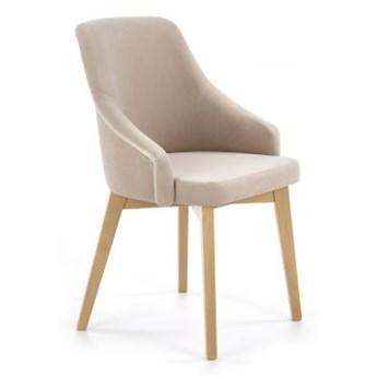 Krzesło TOLEDO 2 beżowe/dąb miodowy HALMAR