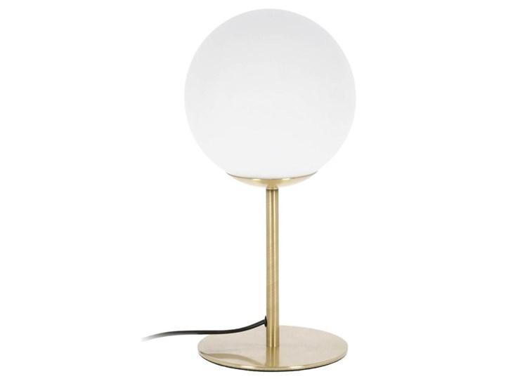 Lampa stolowa Mahala ze stali i szkla matowego