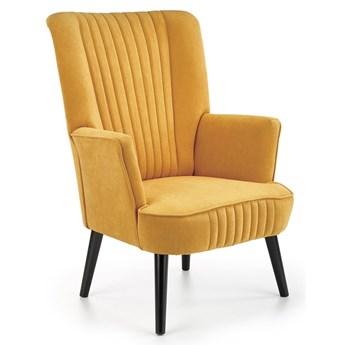 Musztardowy fotel wypoczynkowy - Bovi