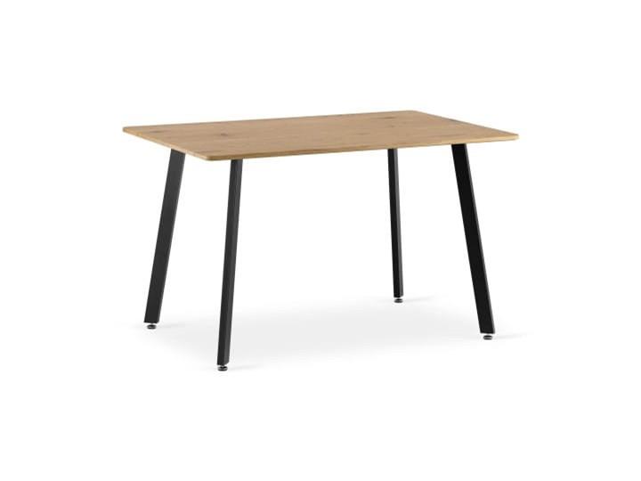 Stół prostokątny NOLAN dąb czarne nogi Wysokość 74 cm Długość 120 cm  Drewno Płyta MDF Szerokość 80 cm Metal Długość 190 cm  Długość 80 cm  Kolor Beżowy