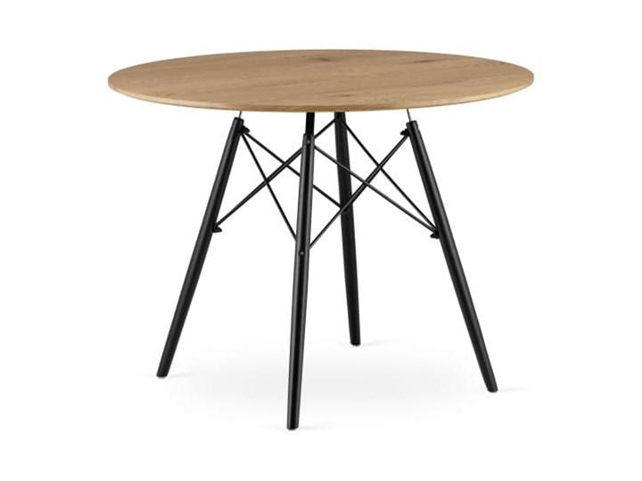 Stół okrągły w stylu skandynawskim Paris Milano 100x75 dąb