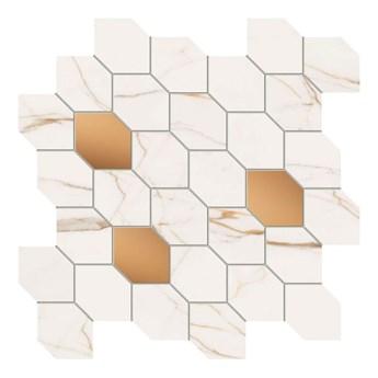 Mozaika Dorado Stone Arte 29,8 x 29,8 cm biała