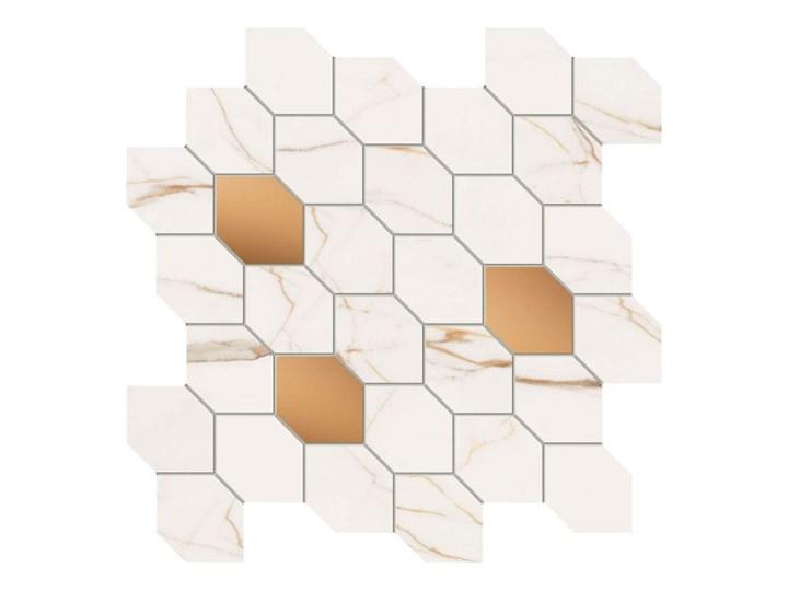 Mozaika Dorado Stone Arte 29,8 x 29,8 cm biała Kolor Biały Płytki ścienne 29,8x29,8 cm Płytki kuchenne Powierzchnia Polerowana