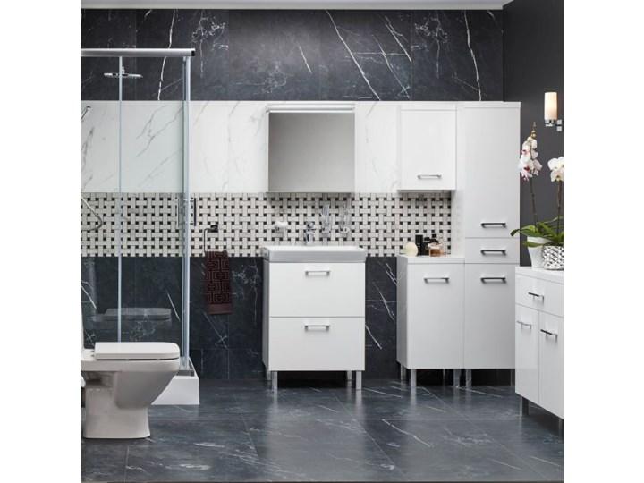 Umywalka meblowa ceramiczna Cersanit Mille Slim 60 cm Prostokątne Ceramika Kategoria Umywalki Meblowe Kolor Biały