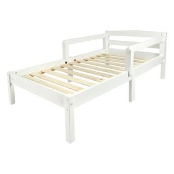 Łóżko białe Clasic 140/70 + barierki (bez materaca)
