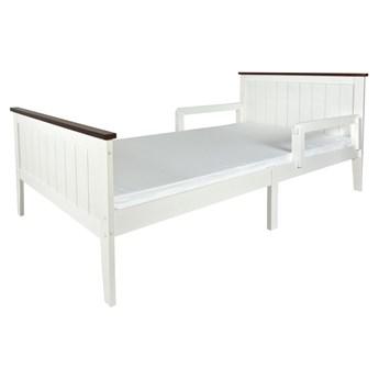 Łóżko białe 90/200 CM PARIS WALNUT z materacem + barierki
