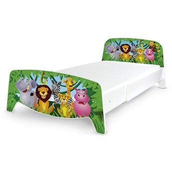 Łóżko segmentowe z regulacją długości Sofia + materac 90/200 Motyw: Zwierzaki