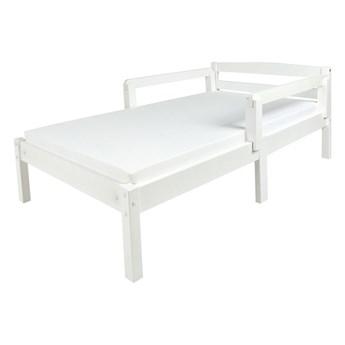 Łóżko białe Clasic 140/70 z materacem + barierki