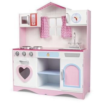 Wielka Drewniana Kuchnia Pink Play + efekty świetlne i dźwiękowe