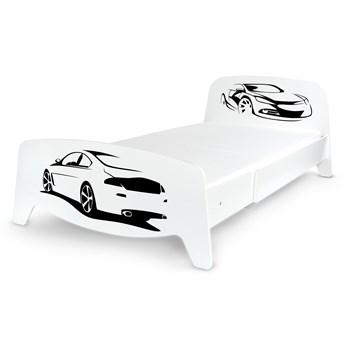 Łóżko segmentowe z regulacją długości Sofia + materac 90/200 - Sportowe auto