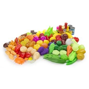 Zestaw owoców i warzyw - kolorowe art. spożywcze 98 el.