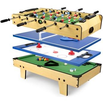 Kompaktowy Stół do gry 4 w 1 (piłkarzyki, bilard, tenis, hokej)
