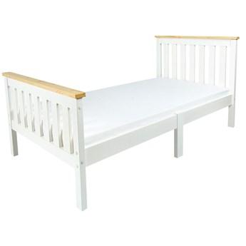 Łóżko białe Milano Pine 140/70 z materacem