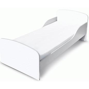 Białe łóżko drewniane z materacem 140/70 cm BIAŁE