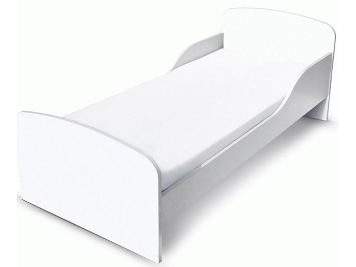 Białe łóżko drewniane z materacem 140/70 cm BIAŁE Drewno Rozmiar materaca 70x140 cm