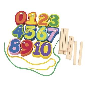 Zestaw do nauki liczenia - drewniane cyferki
