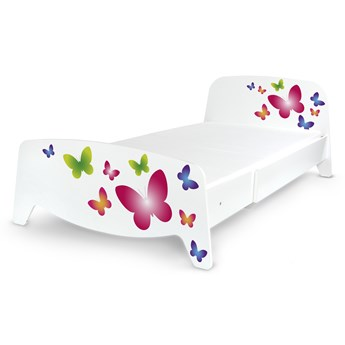 Łóżko segmentowe z regulacją długości Sofia + materac 140/90 Motyw: Motyle