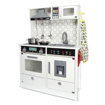 Drewniana elektroniczna kuchnia dla dzieci White Modern