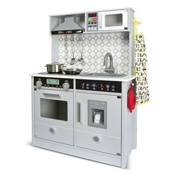 Drewniana elektroniczna kuchnia dla dzieci Grey Modern