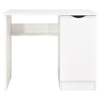 Białe biurko z szafką Roma