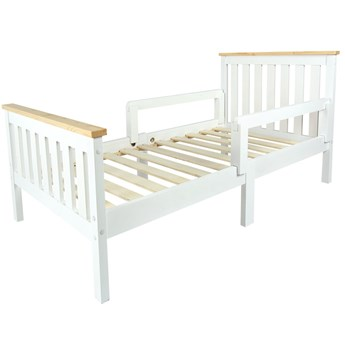 Łóżko białe Milano Pine 140/70 z barierkami (bez materaca)