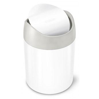 Kosz na toaletkę uchylny 1,5L - biały / simplehuman kod: CW2079