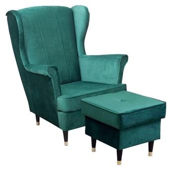 Fotel uszak Lily III z podnóżkiem w stylu skandynawskim - Meb24.pl