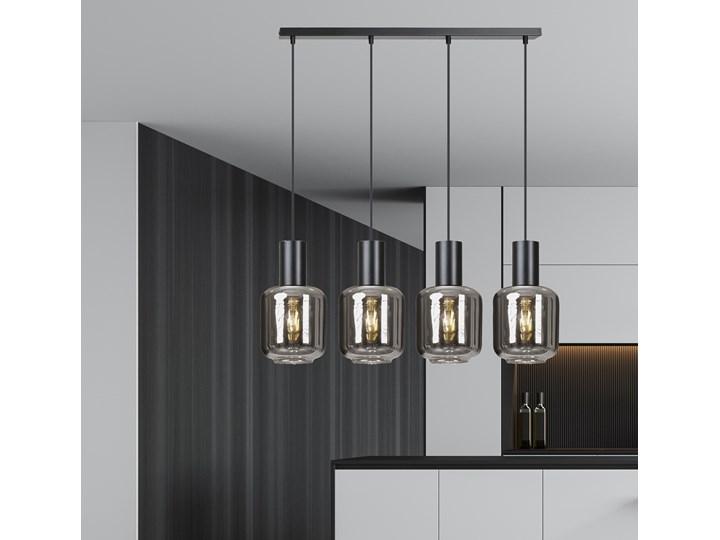 INGVAR 4 BLACK 1014/4 lampa wisząca klosze szklane tuby regulowana nowoczesna Funkcje Brak dodatkowych funkcji Metal Szkło Lampa z kloszem Styl Nowoczesny