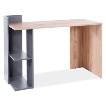 Nowoczesne biurko komputerowe z regałem B-001