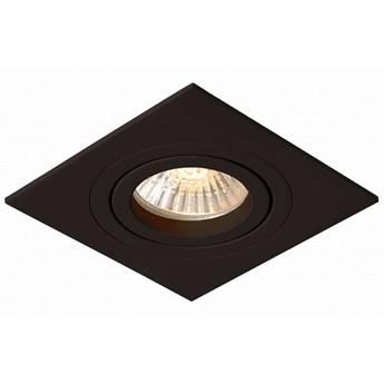 Wpuszczana LAMPA sufitowa METIS LP-2780/1RS BK Light Prestige kwadratowa OPRAWA metalowy WPUST regulowany czarny