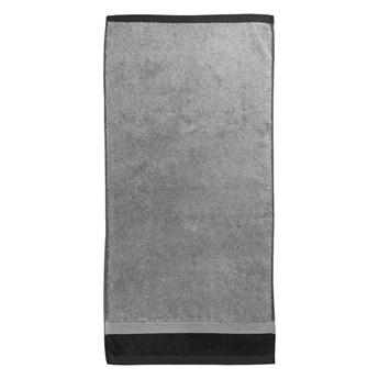 Szary bawełniany ręcznik kąpielowy Ethere Banda Antracita, 100x150 cm