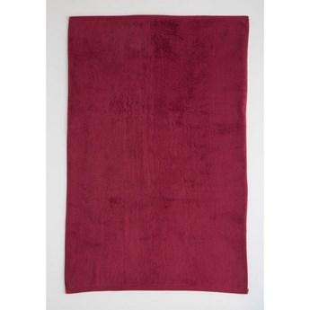 Ciemnoczerwony bawełniany ręcznik El Delfin Lisa Coral, 50x100 cm