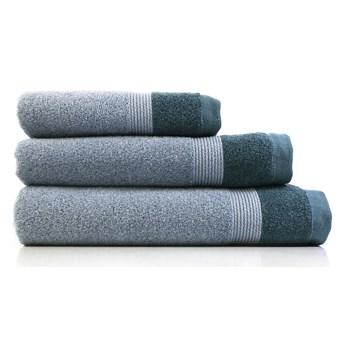 Zestaw 3 niebieskich bawełnianych ręczników Ethere Banda Blue