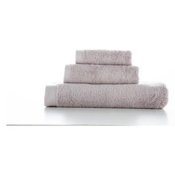 Zestaw 3 jasnoszarych bawełnianych ręczników El Delfin Lisa Coral
