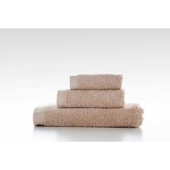 Zestaw 3 beżowych bawełniany ręczniků El Delfin Lisa Coral