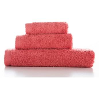 Zestaw 3 czerwonoróżowych bawełnianych ręczników El Delfin Lisa Coral