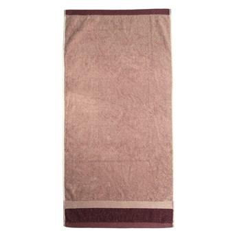 Czerwony bawełniany ręcznik kąpielowy Ethere Banda Vino, 100x150 cm