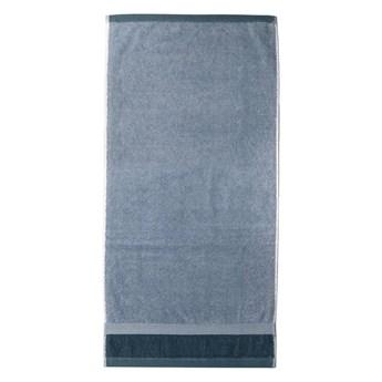 Niebieski bawełniany ręcznik kąpielowy Ethere Banda Blue, 100x150 cm