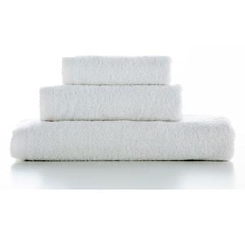 Zestaw 3 białych bawełnianych ręczników El Delfin Lisa Coral, 70x140 cm