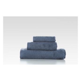 Zestaw 3 szaroniebieskichbawełnianych ręczników El Delfin Lisa Coral