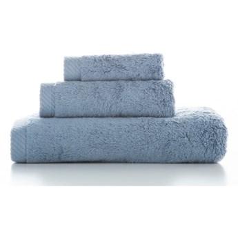 Zestaw 3 niebieskich bawełnianych ręczników El Delfin Lisa Coral